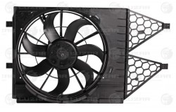 Э/вентилятор охл. с кожухом для а/м VW Polo Sedan (10-)/Skoda Rapid (12-) (LFK 1853)