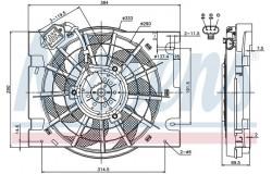 Вентилятор радиатора OPEL ASTRA/ZAFIRA 1.2-2.2 98-05