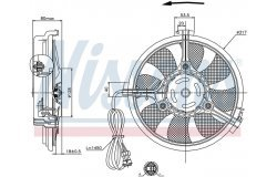 Вентилятор радиатора VAG A4/A6/A8 /PASSAT/SHARAN 1.6-4.2/1.9TD-2.5TD 94-05
