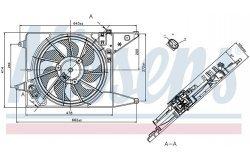 Вентилятор радиатора RENAULT LOGAN 08- с кондиционером