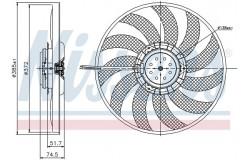 Вентилятор радиатора AUDI A6 2.0-3.0TFSI 05-11