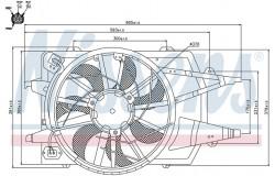 Вентилятор кондиционера FORD FOCUS 1.4-2.0 98-05