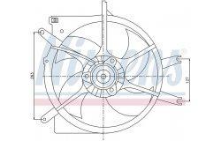 Вентилятор радиатора HONDA CIVIC -01