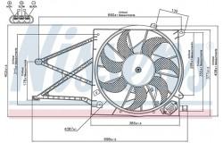 Вентилятор радиатора OPEL ASTRAG/ZAFIRA DTI -05