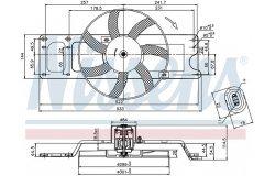 Вентилятор радиатора RENAULT LOGAN 08- без кондиционера