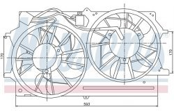 Вентилятор радиатора FORD FOCUS -04