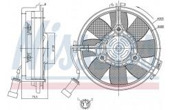 Вентилятор радиатора AUDI A6/VW PASSAT 1.8-2.8/TDI -05