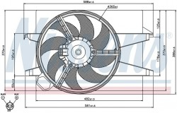 Вентилятор радиатора FORD FIESTA/FUSION 02-
