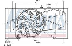 Вентилятор радиатора FORD MONDEO -07