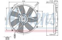 Вентилятор радиатора MB W140 2.8-6.0 91-99