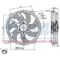 Вентилятор радиатора CITROEN JUMPY/C8 / PEUGEOT EXPERT 2.0/1.6D-2.0D 02-