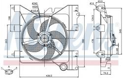 Вентилятор радиатора CITROEN BERLINGO/XSARA / PEUGEOT PARTER 1.4-2.0 96-05