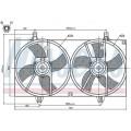 Вентилятор радиатора NISSAN ALMERA N16 00-