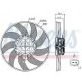 Вентилятор радиатора VAG 08- 350mm