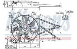 Вентилятор радиатора ASTRA G/ZAFIRA -05