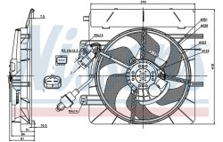 Вентилятор радиатора CITROEN C2/C3/PEUGEOT 207