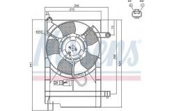 Вентилятор радиатора DAEWOO KALOS 1.4 03-