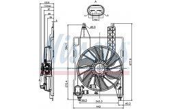 Вентилятор радиатора RENAULT MEGANE 1.4-2.0/1.5D 02-