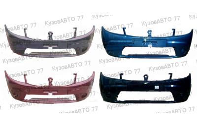 Бампер передний RENAULT Sandero без ПТФ в цвет производства Sat