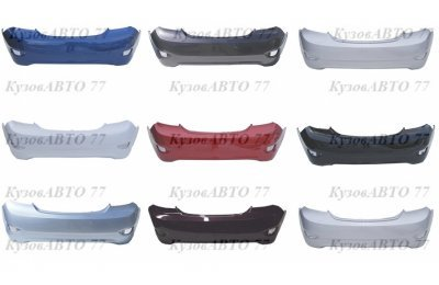 Бампер задний KIA Rio 3 (11-14) седан в цвет производства Sat